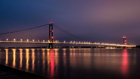 The Humber Bridge from Barton, UK royalty free stock image
