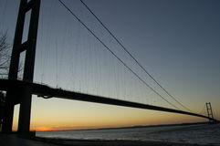 Humber Bridge at Dawn Royalty Free Stock Photos