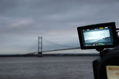 Humber Bridge at dusk Stock Photos