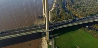 The Humber Bridge, Kingston upon Hull. The Humber Bridge, single span suspension bridge. Kingston upon Hull Stock Photo