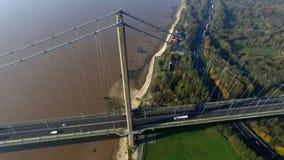 The Humber Bridge, Kingston upon Hull. The Humber Bridge, single span suspension bridge. Kingston upon Hull Royalty Free Stock Image