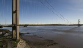 The Humber Bridge, Kingston upon Hull. The Humber Bridge, single span suspension bridge. Kingston upon Hull Stock Photos