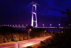 Humber bridge River Crossing Kingston Upon Hull. Humber bridge single span suspension bridge, tole bridge river crossing Humber estuary, Kingston Upon Hull Stock Images