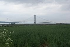 Humber bridge River Crossing Kingston Upon Hull Stock Photos