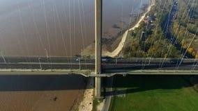 The Humber Bridge, Kingston upon Hull. The Humber Bridge, single span suspension bridge. Kingston upon Hull Royalty Free Stock Images