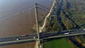 The Humber Bridge, Kingston upon Hull. The Humber Bridge, single span suspension bridge. Kingston upon Hull Royalty Free Stock Photo
