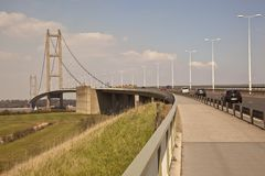 Humber Bridge walk way. Stock Image