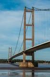 Humber bro, korsning för flod för upphängningbro Arkivbild
