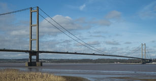Humber suspension Bridge looking towards the north Stock Images