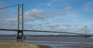 Humberhangbrug die naar het noorden kijken Stock Afbeeldingen