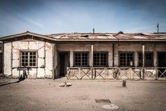 Humberstone鬼城,阿塔卡马沙漠,智利 图库摄影