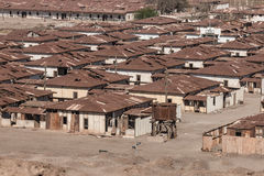Humberstone鬼城,阿塔卡马沙漠,智利 免版税库存图片