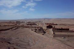 Humberstone salpeter Worksm i nordliga Chile arkivfoto