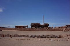 Humberstone Saltpeter Worksm in northern Chile. The Santa Laura refinery in the abandoned Humberstone saltpeter works. This abandoned nitrate town was extremely stock photos