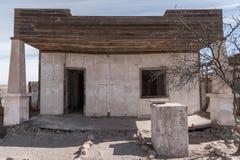 Humberstone spökstad, Atacama öken, Chile Royaltyfri Foto