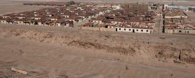 Humberstone spökstad, Atacama öken, Chile Arkivbilder