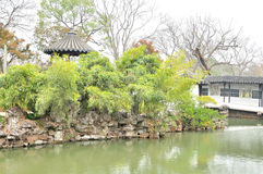 Humble Administrator's Garden. Is the representative works of Chinese Jiangnan classical garden.In 1997 was approved by UNESCO included in the World Heritage royalty free stock photos