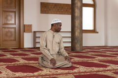 Humble African Muslim Prayer Stock Images