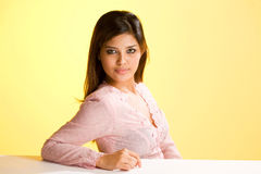 Humble asian Muslim young woman Stock Photo