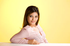 Humble asian Muslim young woman. A humble asian Muslim young woman in traditional  wear Royalty Free Stock Photography