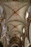 Humble baroque church wooden ceiling Stock Images