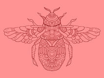 Humble-bee color drawing vector illustration Stock Images