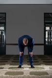 Humble Businessman Muslim Prayer In Mosque Stock Image