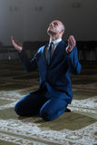 Humble Businessman Muslim Prayer In Mosque Royalty Free Stock Image