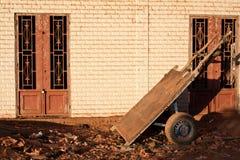 Humble handcart parked. Mopti (Mali, Africa stock photo
