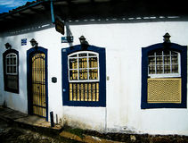 Humble houses in Ouro Preto Royalty Free Stock Image
