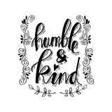 Humble and kind. Royalty Free Stock Images