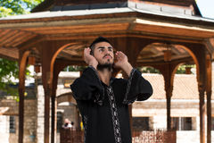 Humble Muslim In Dishdasha Prayer Royalty Free Stock Images
