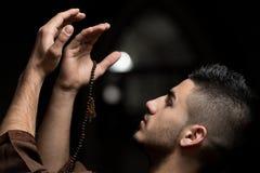 Humble Muslim Prayer Stock Images