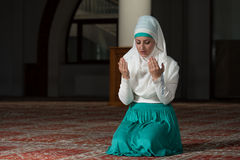 Humble Muslim Prayer Woman Stock Images