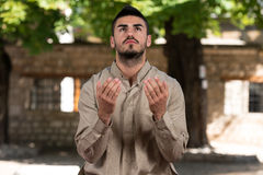 Humble Muslim Prayer Stock Photo