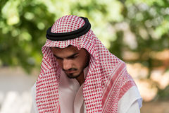 Humble Muslim Prayer Stock Images