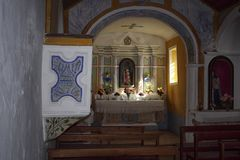 Humble small chapel interior Stock Images