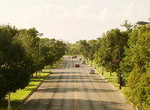 Humboldt Park Boulevard in Chicago. A view of Humboldt Park Boulevard in Chicago, Illinois Royalty Free Stock Photo