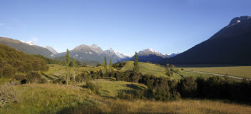 Humboldt Range and Forbes Mountains with Mt Earnslaw Royalty Free Stock Photo