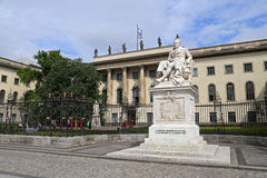 Humboldt-Universitat zu Berlin (Berlin's Humboldt University) named in honor of its founder Royalty Free Stock Image