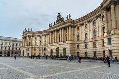 Humboldt University on Bebelplatz. Former Royal Library, now seat of Faculty of Law. Berlin. Germany. Berlin, Germany - November 08, 2018: Humboldt University on stock photography