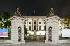 Humboldt university in Berlin at night Stock Photo