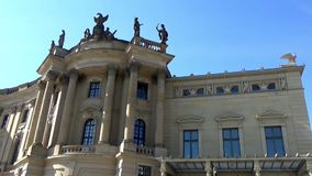 Humboldt University, Faculty of Law, Germany, Berlin, city district Mitte, Unter den Linden, Bebelplatz, March 2017. Humboldt University, Faculty of Law: baroque stock video footage