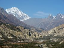 Humde village and airport, Nepal Royalty Free Stock Image