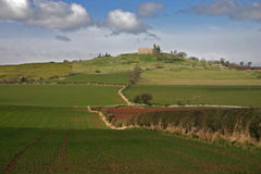 Hume Castle. View of Hume Castle, near Greenlaw, in the Scottish Borders, close to Kelso Stock Photos