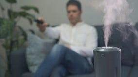 Humectador del aire almacen de metraje de vídeo