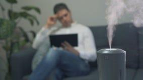 Humectador del aire almacen de video
