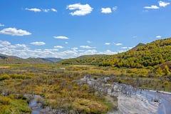 humedal y nubes en el otoño Imágenes de archivo libres de regalías