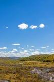 humedal y nubes en el otoño Fotos de archivo libres de regalías