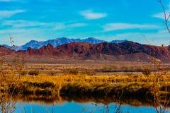 Humedales y montañas de Las Vegas Fotografía de archivo